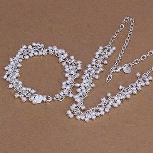 .925 Sterling Silver Necklace & Bracelet Set
